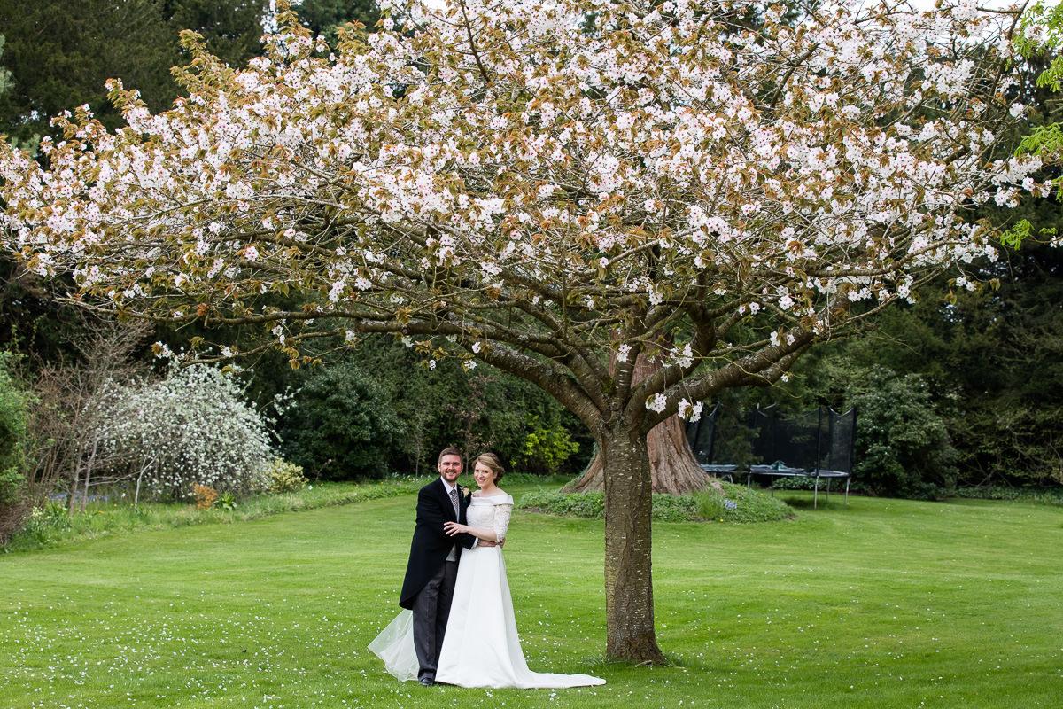 Ardington House wedding spring blossom