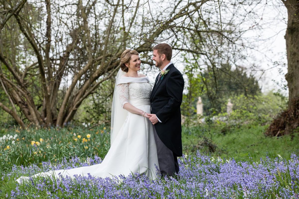 Ardington House wedding spring bluebells