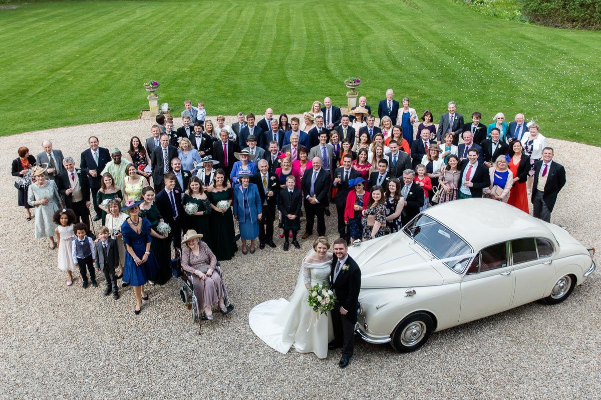 Ardington House wedding party group