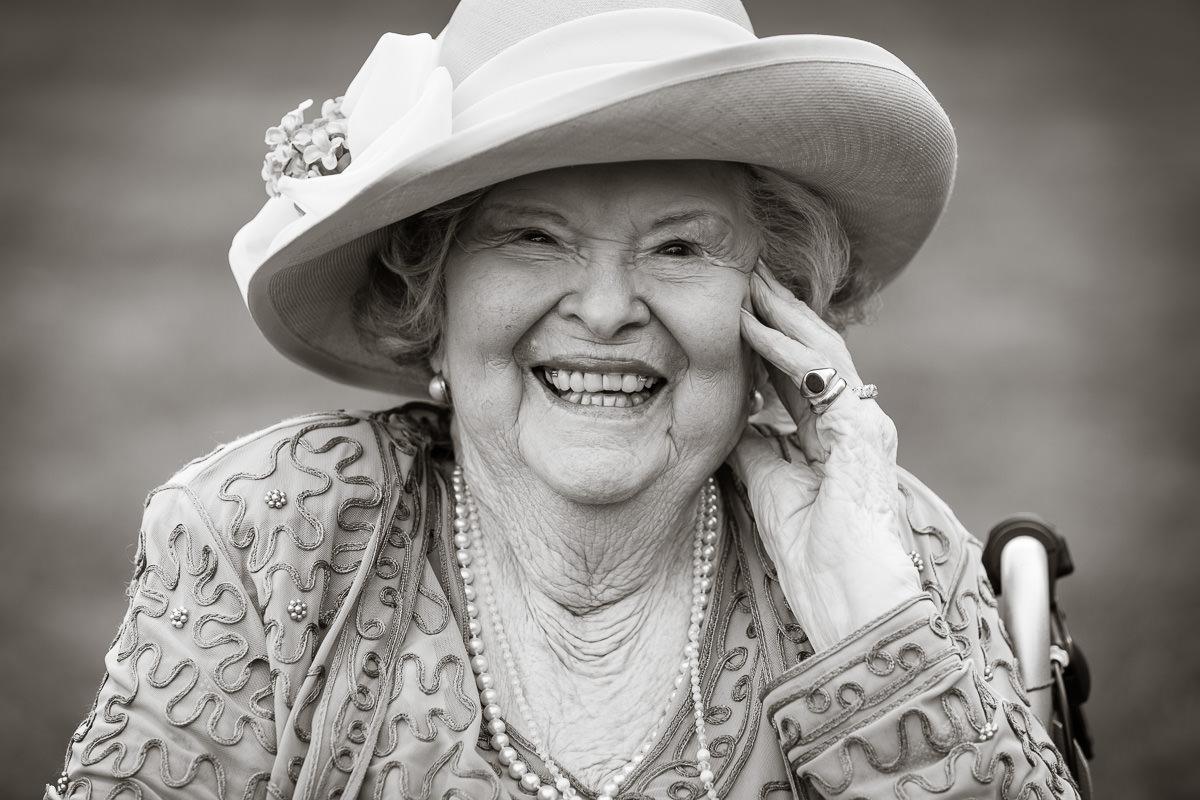 Ardington House wedding laughing grandmother