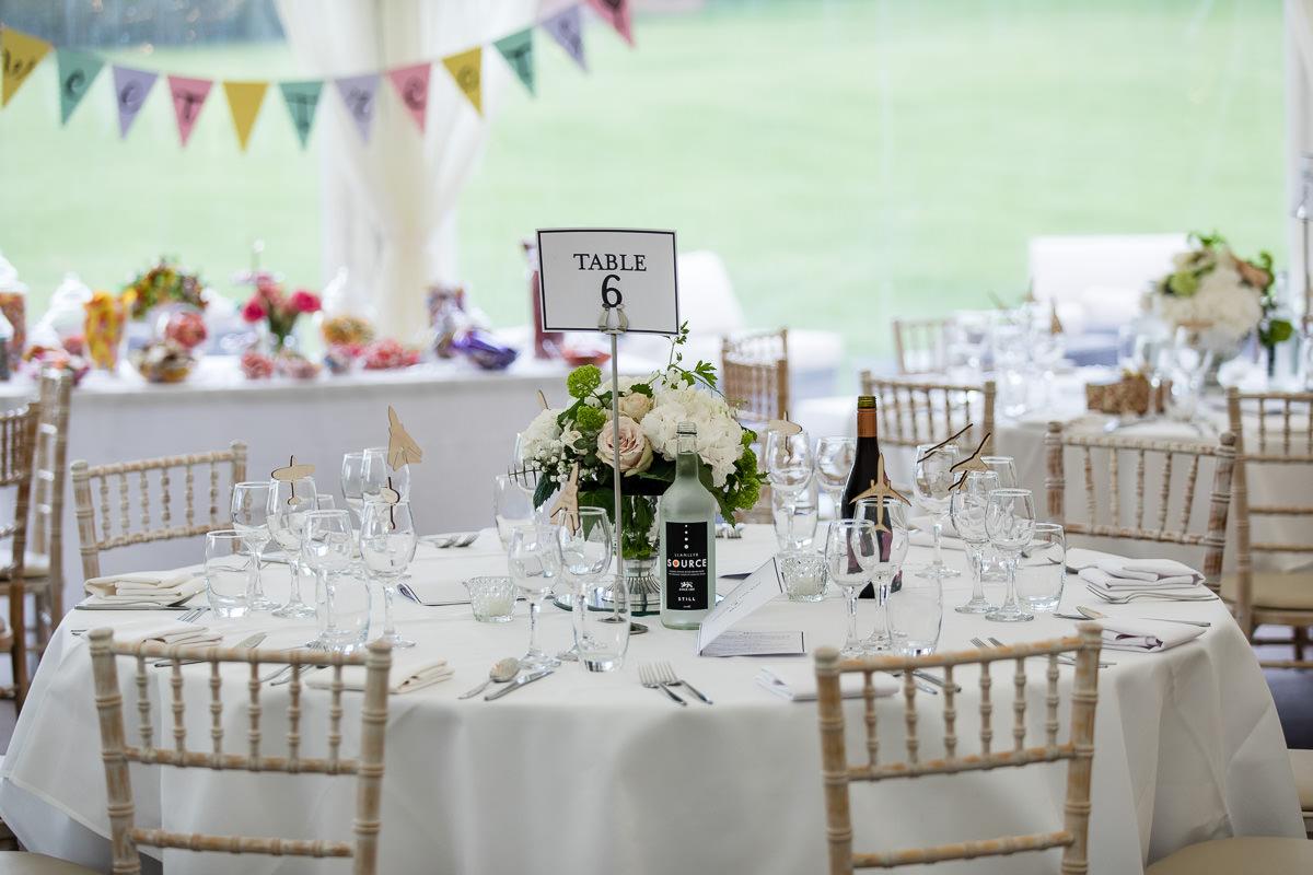 Ardington House wedding table setting