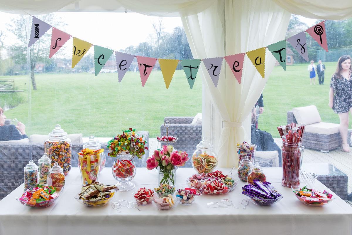 Ardington House wedding sweetie table