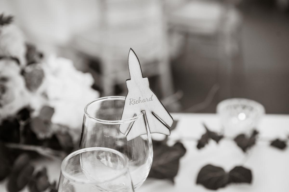 Ardington House wedding aeroplane detail