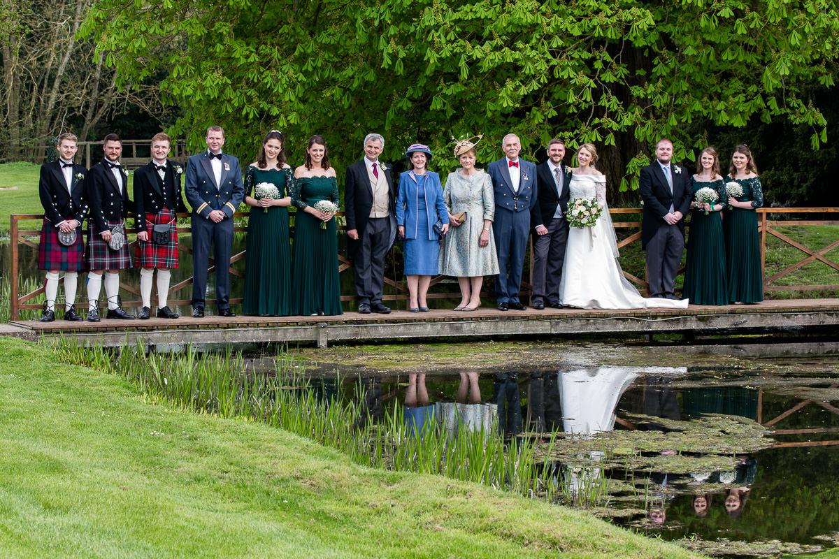 Ardington House wedding party on bridge