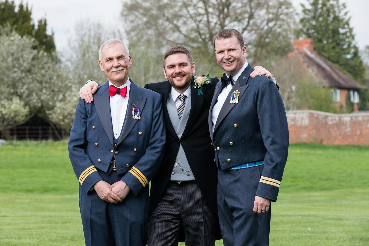 Ardington House wedding party RAF uniforms