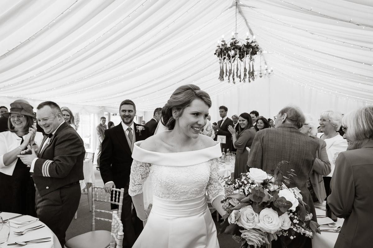 Ardington House wedding party new Mr and Mrs