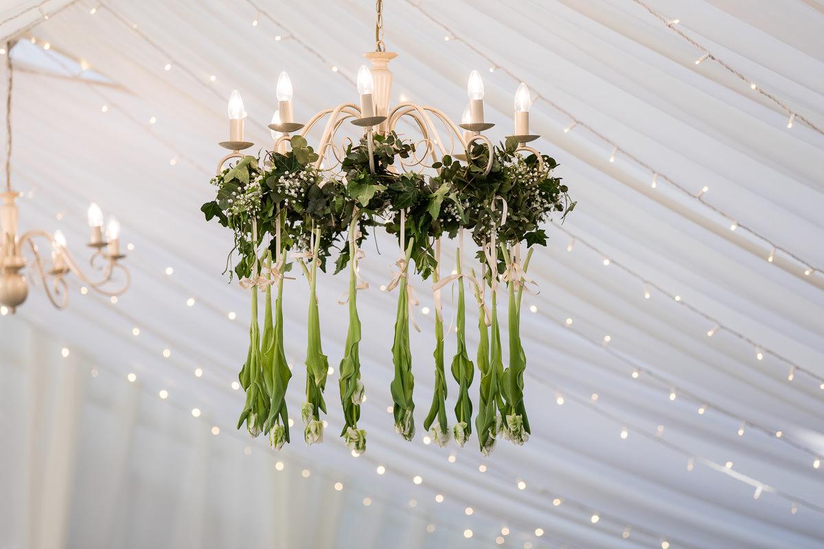 Ardington House wedding marquee chandelier