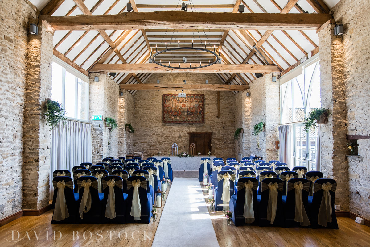The Great Barn Aynho ceremony room wedding venue