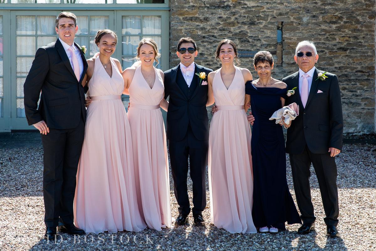 The Great Barn Aynho groom and grooms maids