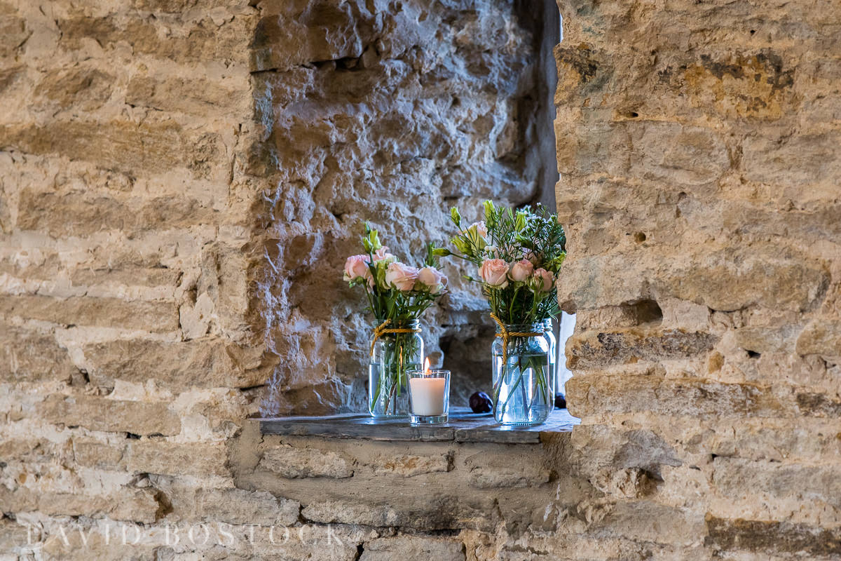 The Great Barn Aynho ceremony room flowers
