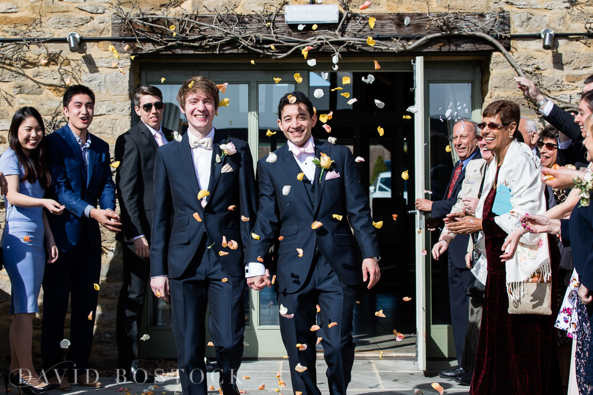 The Great Barn Aynho wedding confetti
