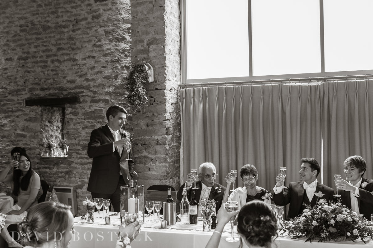 The Great Barn Aynho wedding speeches