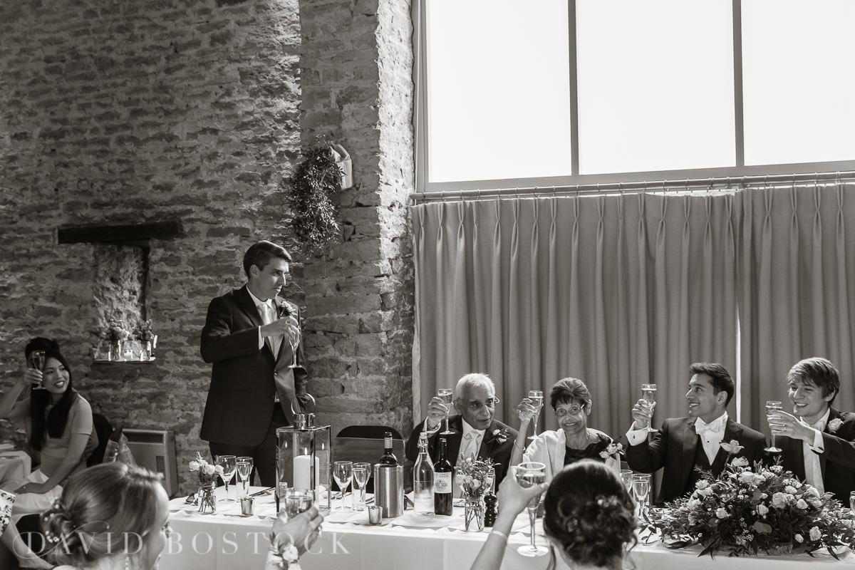 The Great Barn Aynho wedding speeches