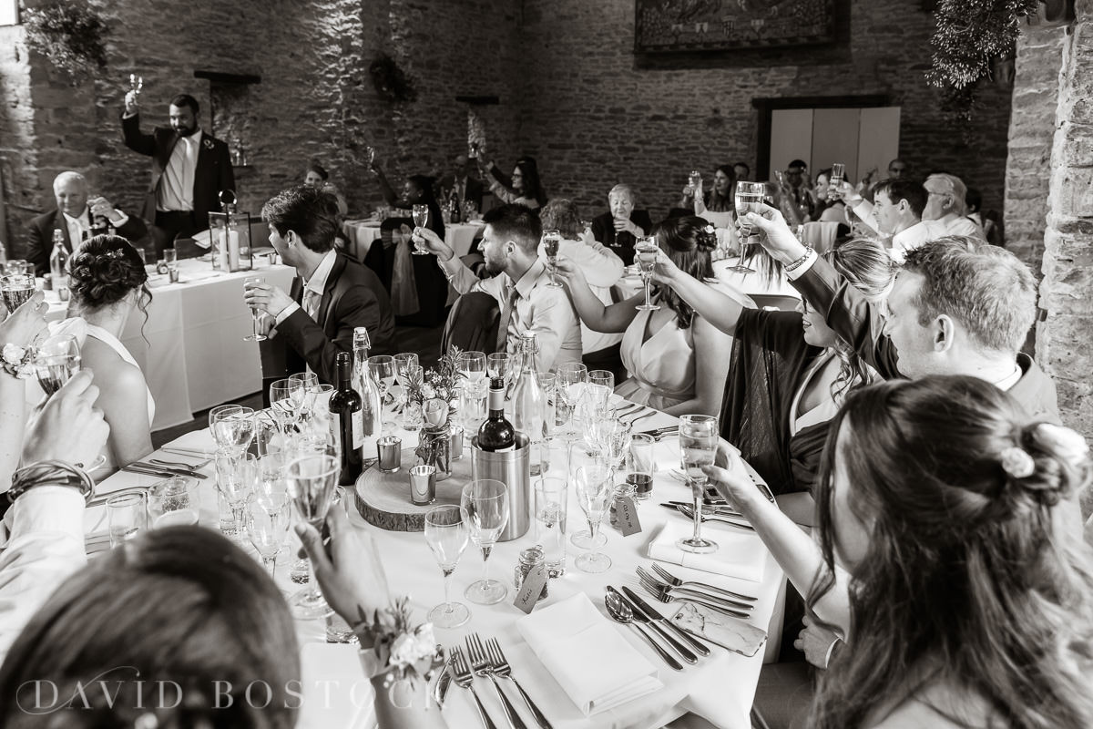 The Great Barn Aynho wedding speeches cheers