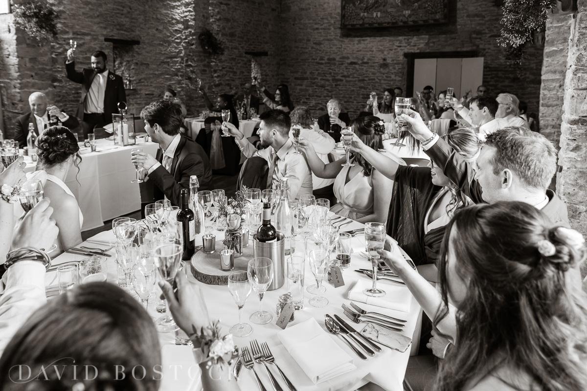 The Great Barn Aynho wedding speeches cheers