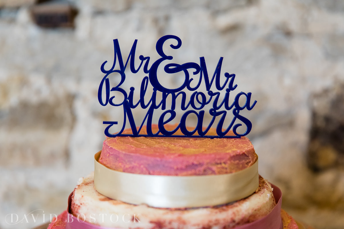 The Great Barn Aynho wedding cake topper