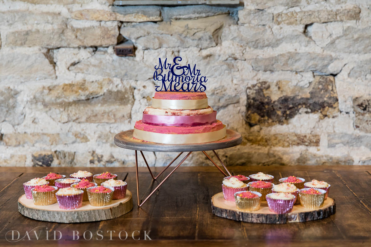 The Great Barn Aynho wedding cake
