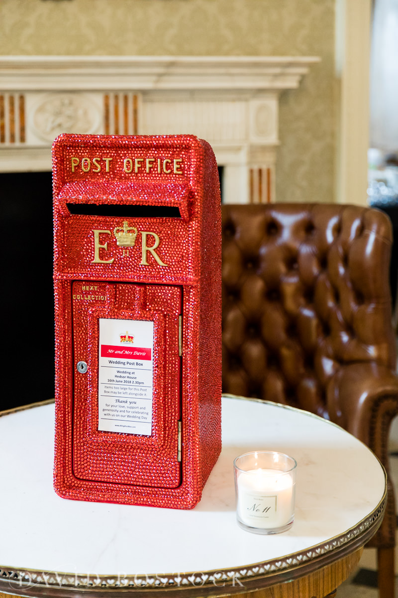 Hedsor House wedding postbox