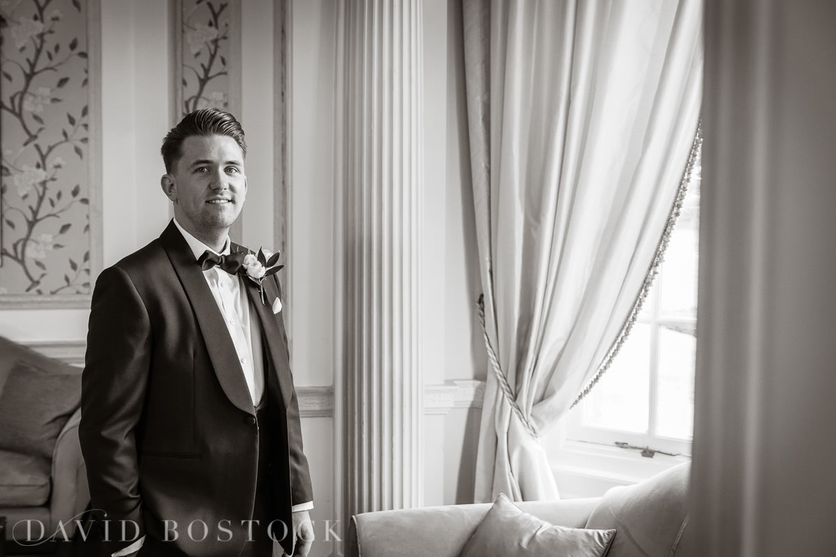 Hedsor House wedding groom