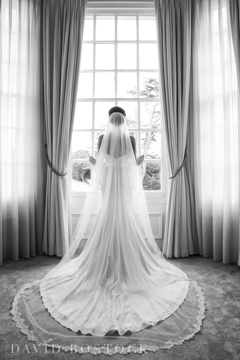 Hedsor House wedding bride veil