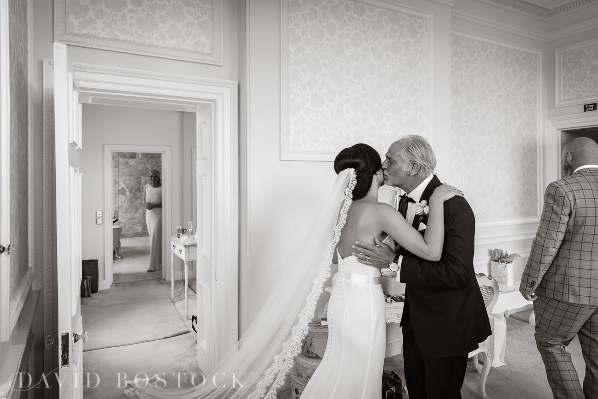 Hedsor House wedding bride and father