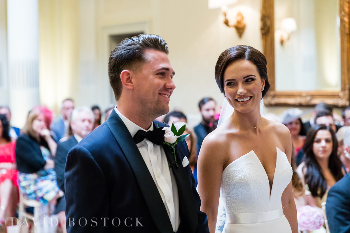 Hedsor House wedding bride and groom