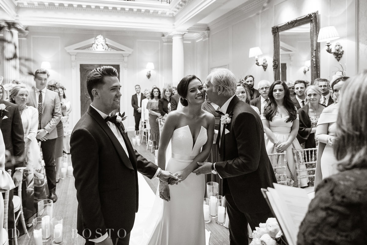 Hedsor House wedding bride father kiss