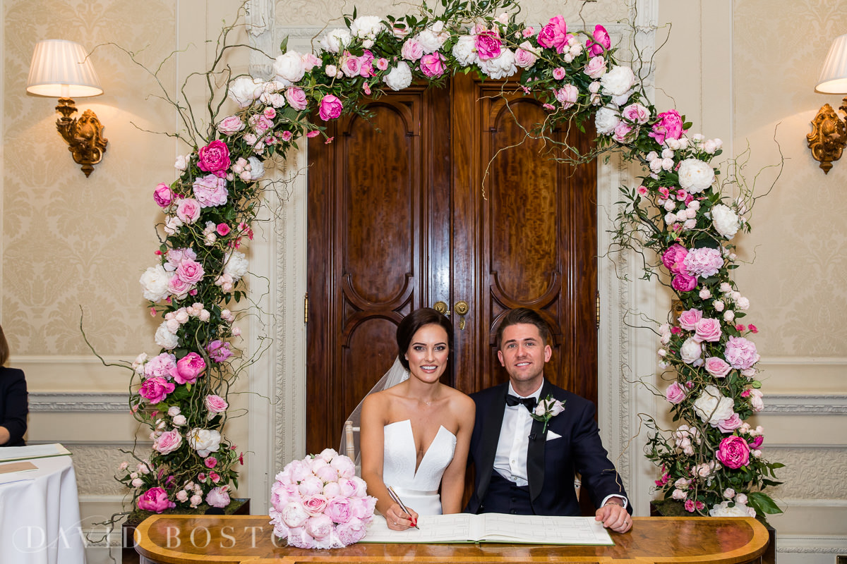 Hedsor House wedding floral arch