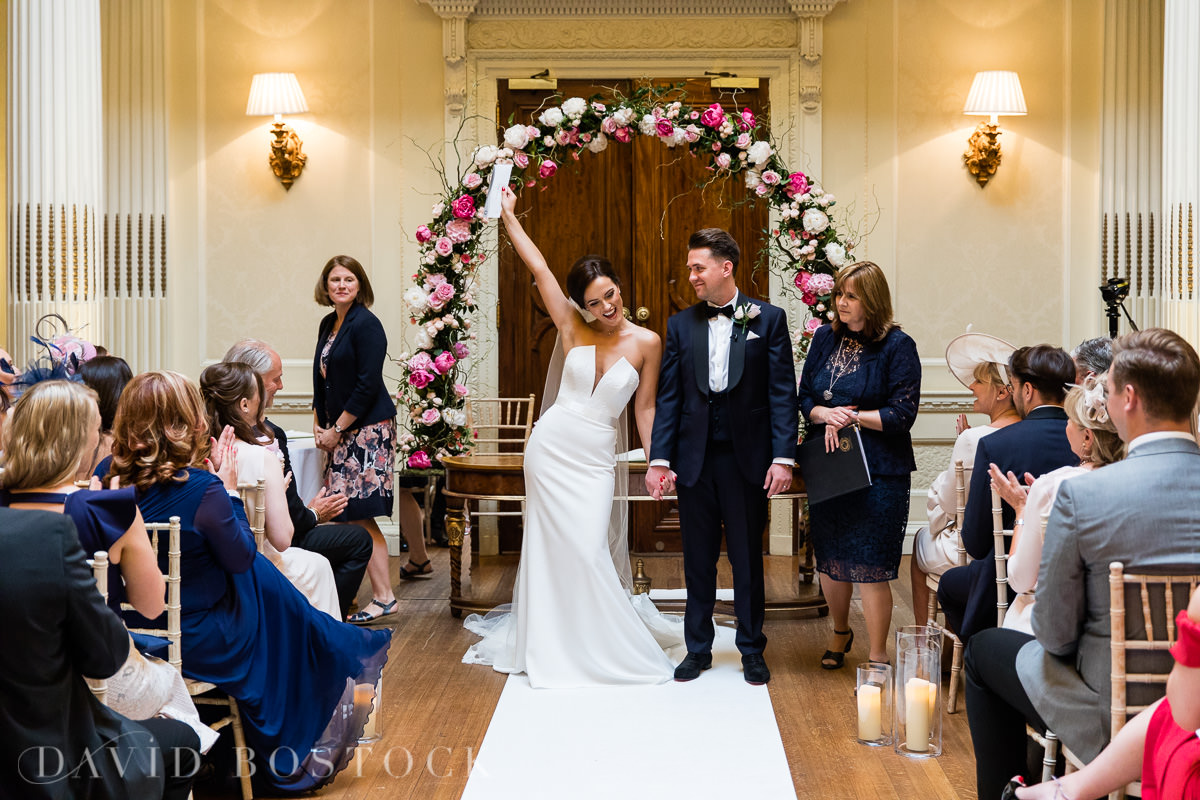 Hedsor House wedding just married