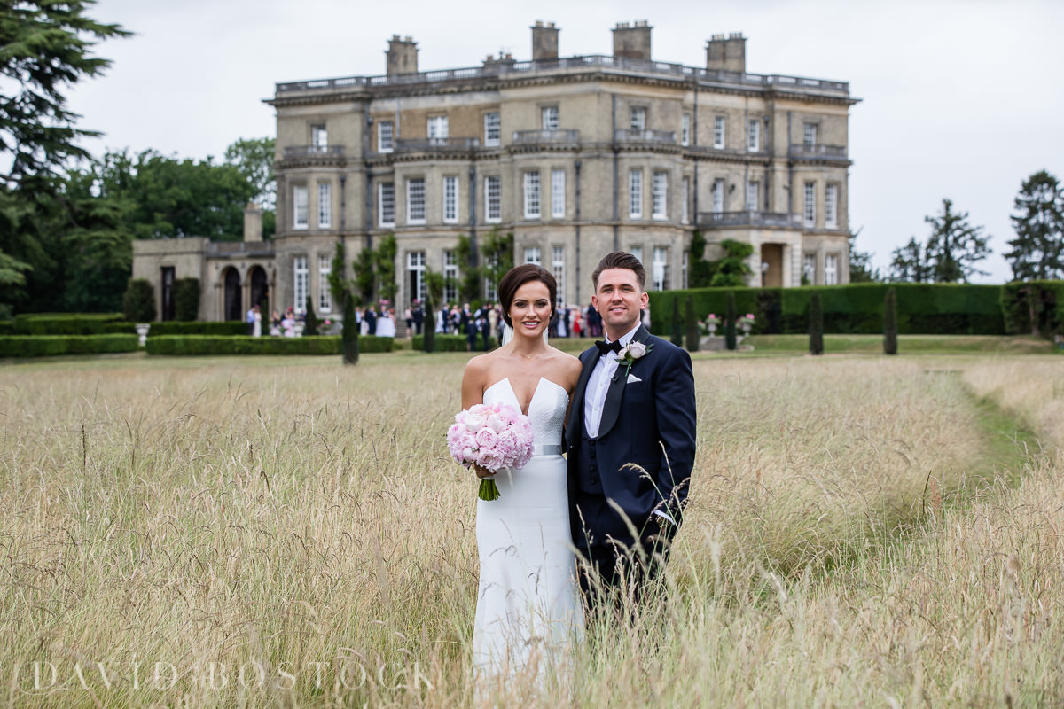 Hedsor House wedding bride and groom parkland