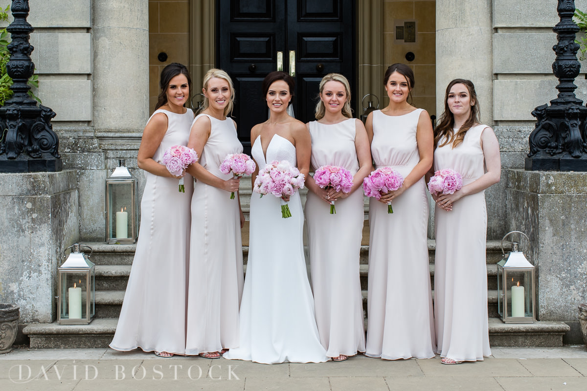 Hedsor House wedding bride and maids