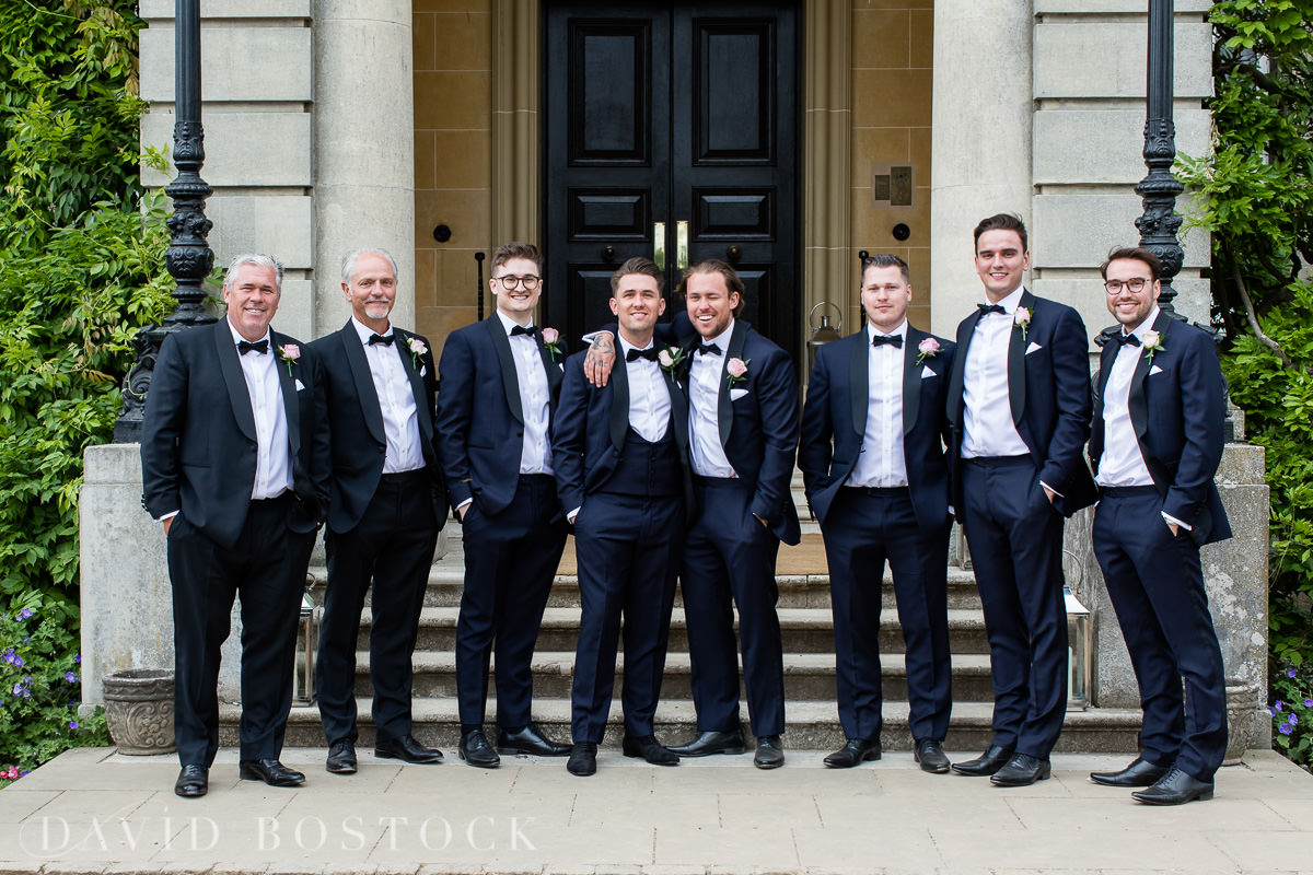 Hedsor House wedding groom and ushers