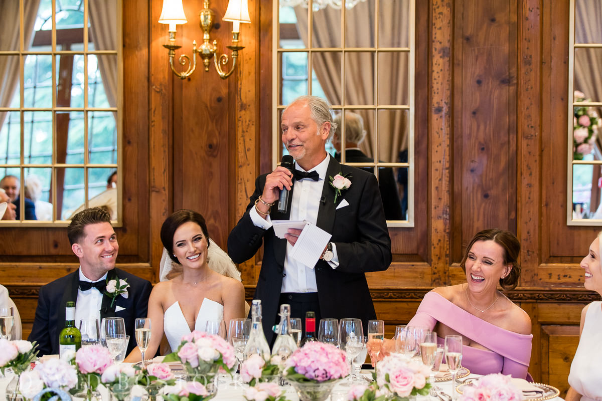 Hedsor House wedding father of the bride speech