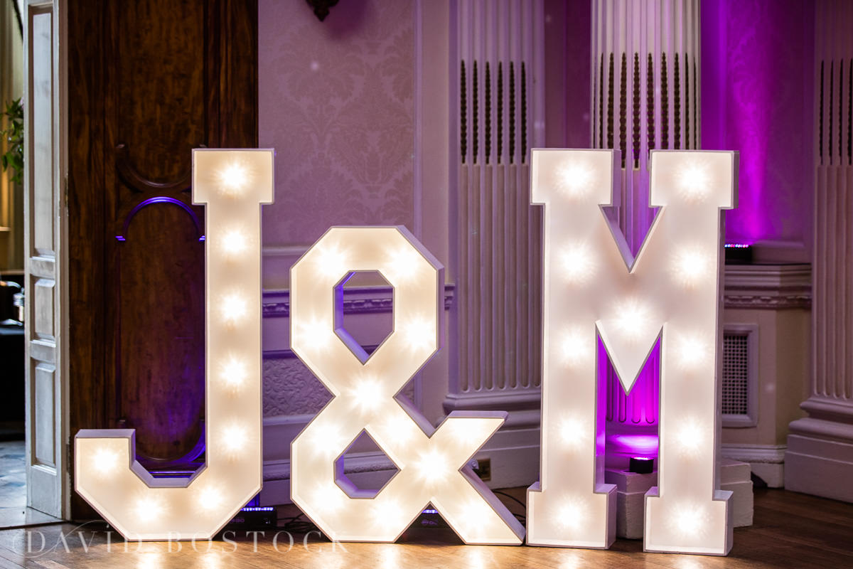 Hedsor House wedding light up letters