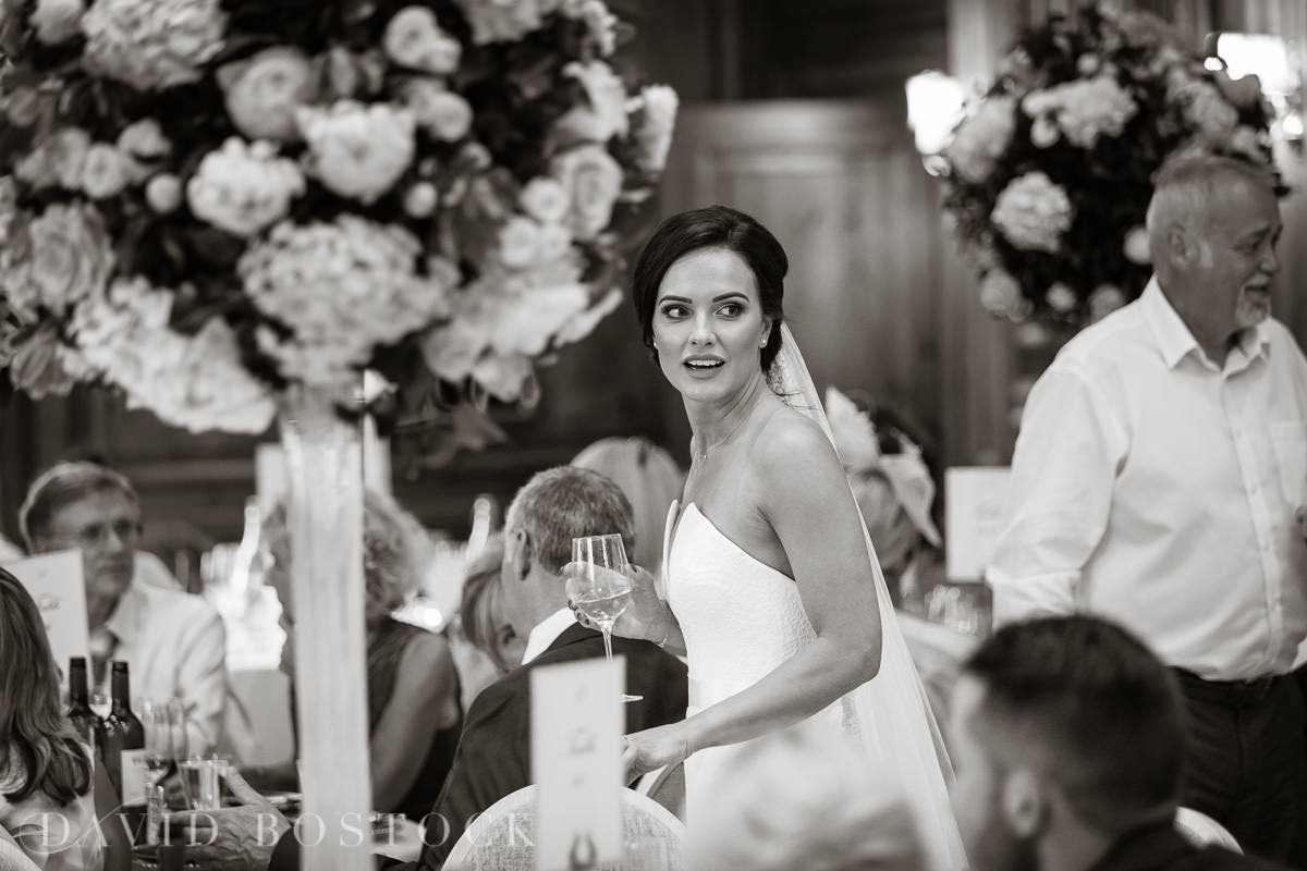 Hedsor House wedding candid bride photo