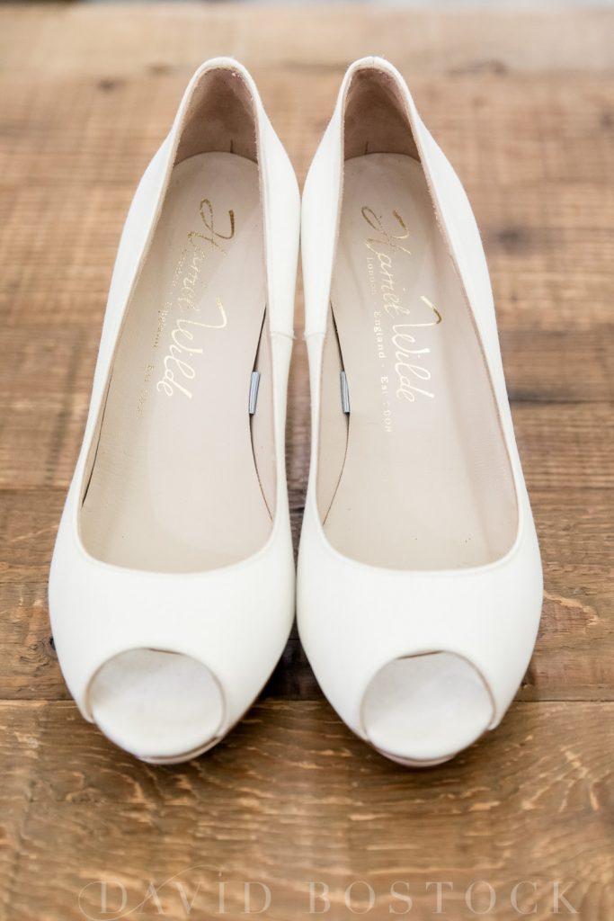 The Dairy Waddesdon wedding bridal heels