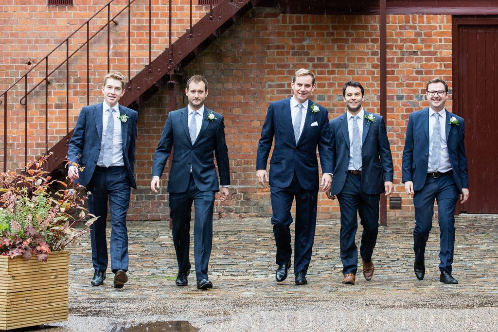 The Dairy Waddesdon wedding groomsmen
