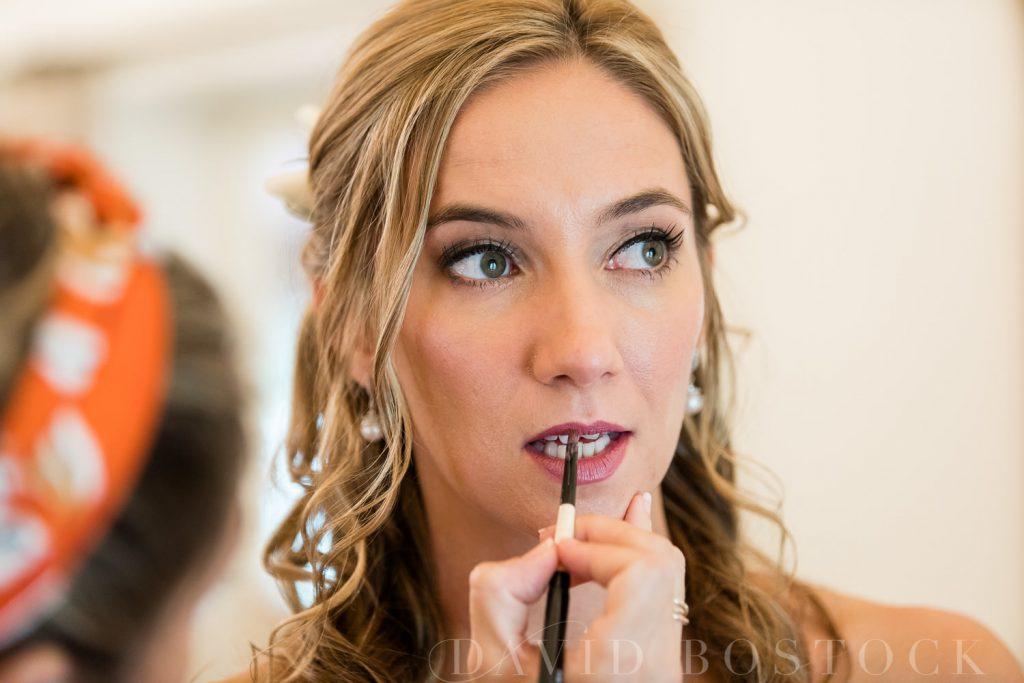 The Dairy Waddesdon wedding bridal lipstick
