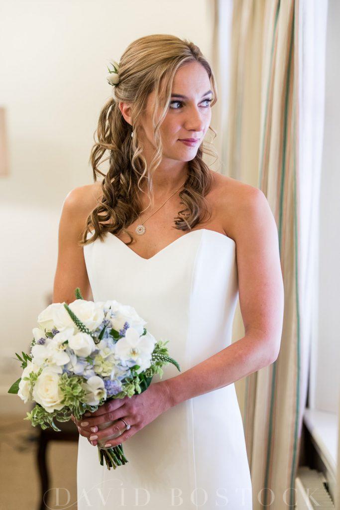 The Dairy Waddesdon wedding bridal portrait