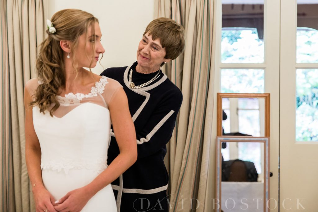 The Dairy Waddesdon wedding beautiful bride and mother
