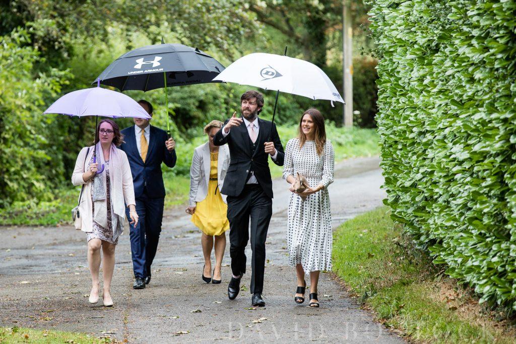 The Dairy Waddesdon wedding rainy