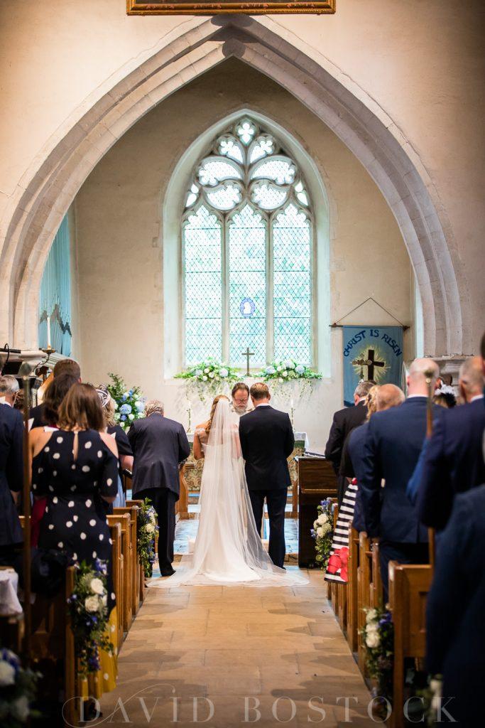 The Dairy Waddesdon wedding exchanging vows
