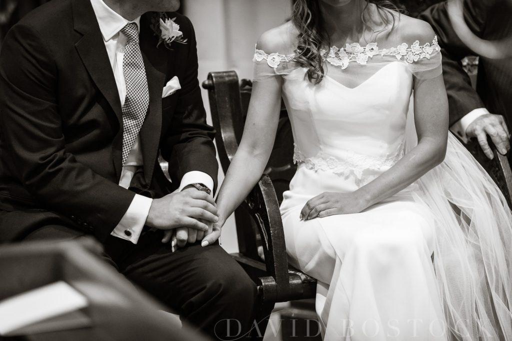 The Dairy Waddesdon wedding couple holding hands