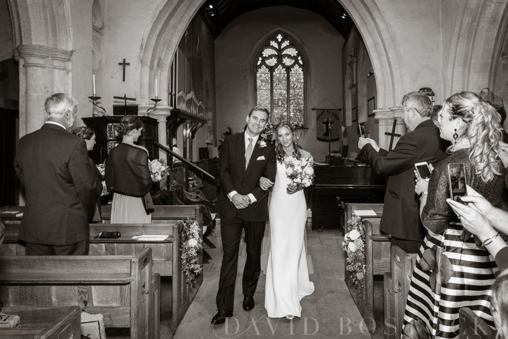 The Dairy Waddesdon wedding just married