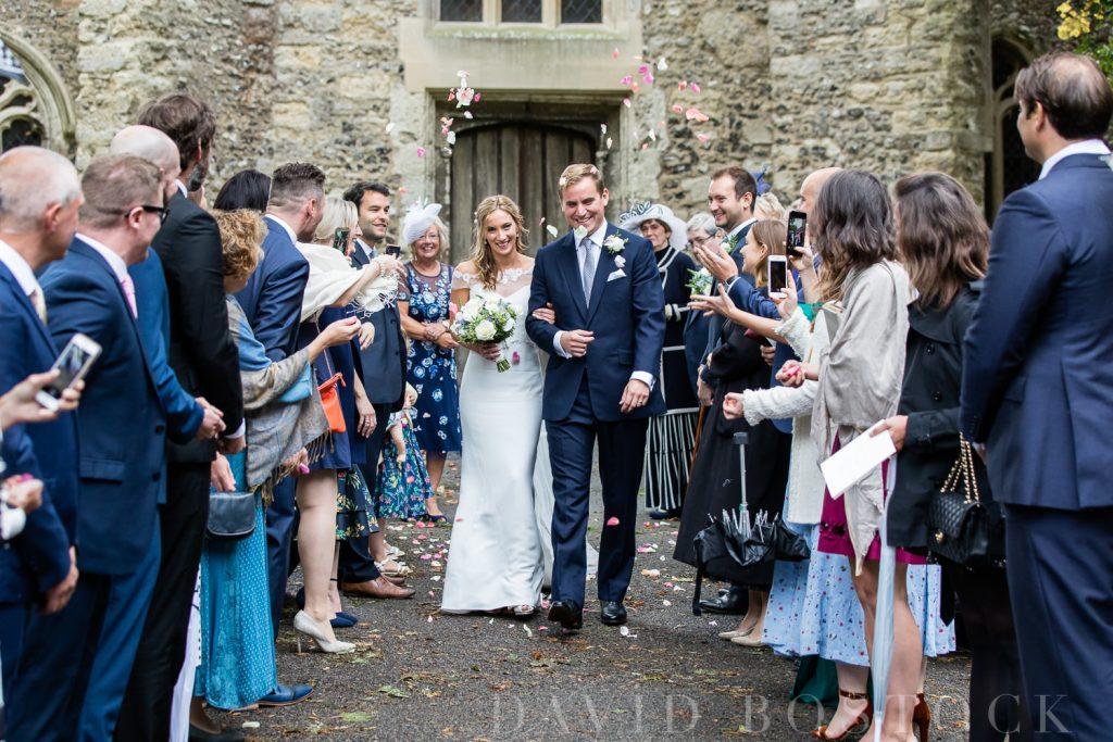The Dairy Waddesdon wedding confetti shot