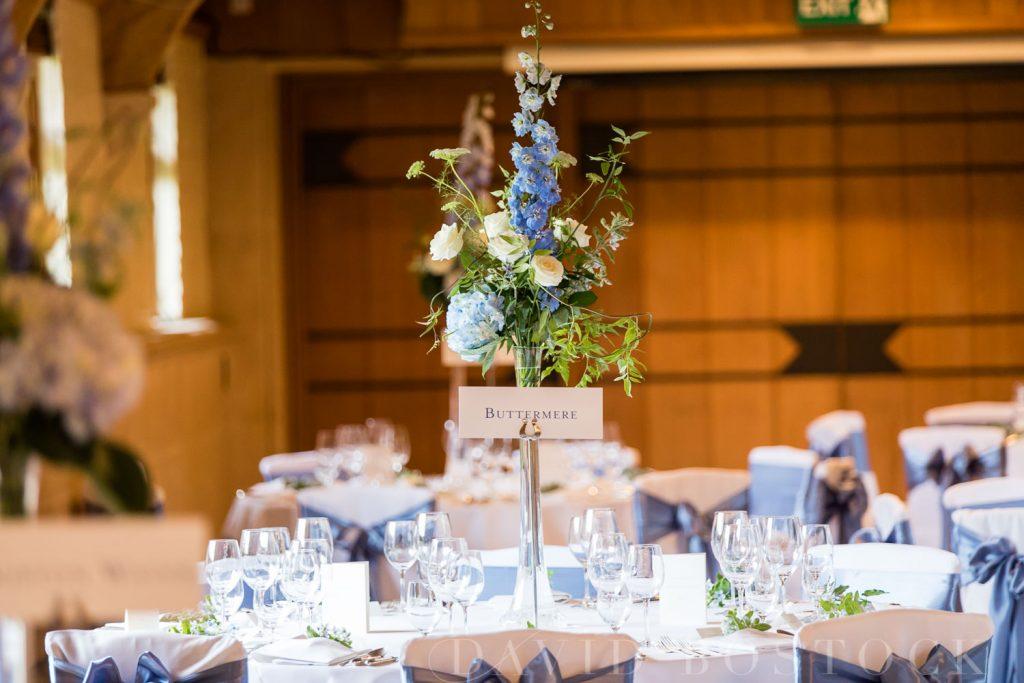 The Dairy Waddesdon wedding breakfast table