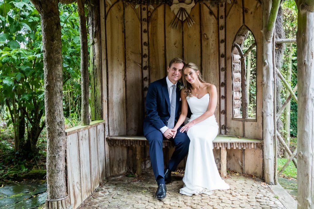 The Dairy Waddesdon wedding bride and groom outdoors