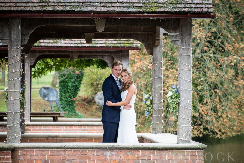 The Dairy Waddesdon wedding bride and groom portrait