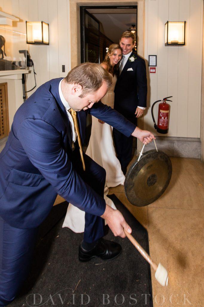 The Dairy Waddesdon wedding breakfast gong