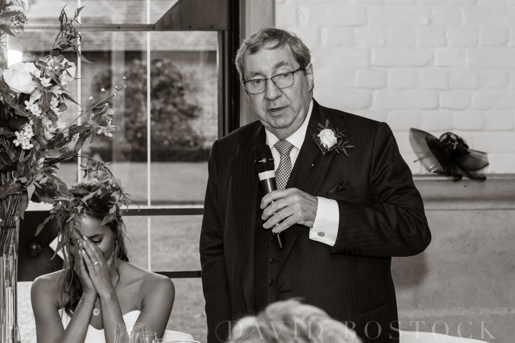 The Dairy Waddesdon wedding speeches